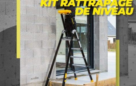 Un kit rattrapage de niveau pour l'escabeau MP